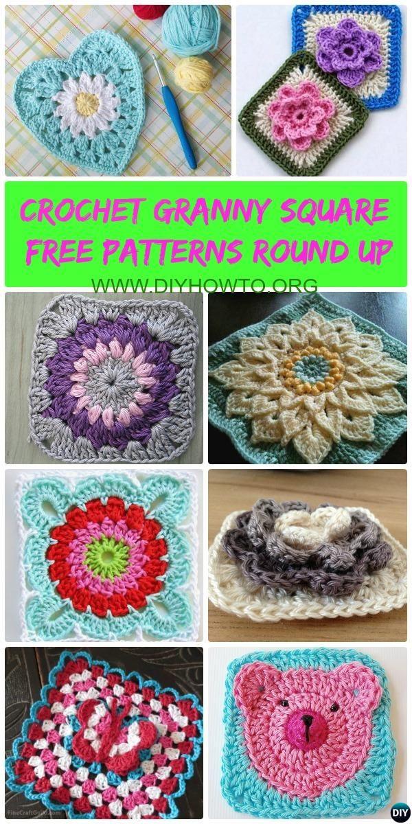Crochet Granny Square Free Patterns: Crochet Animal, Flower, Heart ...