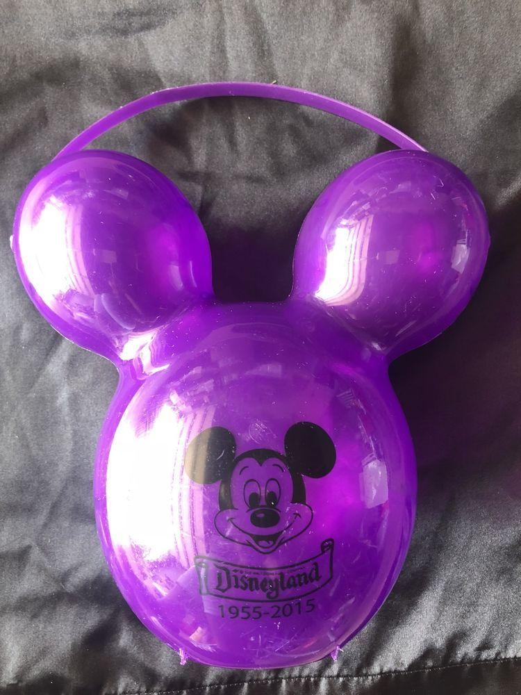1955-2015 RED Disneyland Mickey Mouse Popcorn Bucket 60th Anniversary