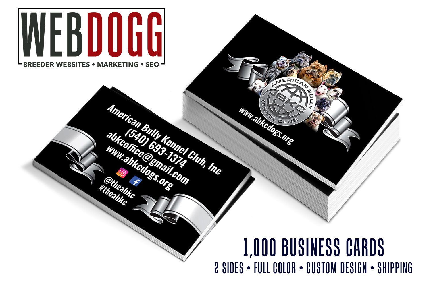Business Cards For Abkc Webdogg Breederdesigns Dogbreeder Graphics Breederlogo Breederdesign Breede Printing Business Cards Dog Business Kennel Business