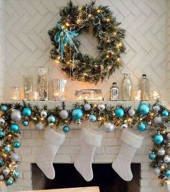 Like the blue Xmas!!!!! Pinterest Christmas themes, Christmas