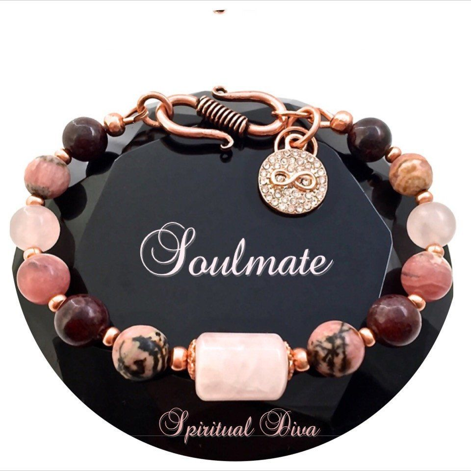 Soulmate Attract Love Healing Crystal Rose Gold Copper