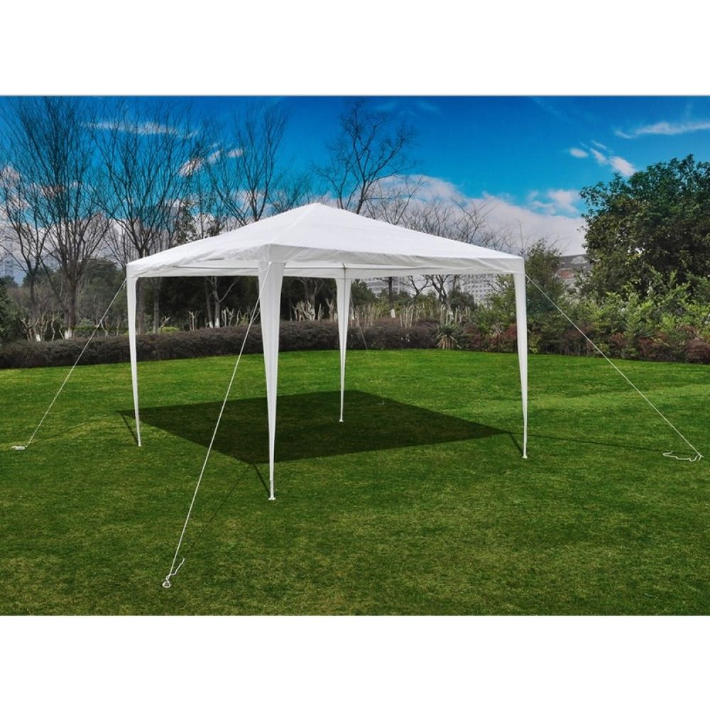 3 x 4m PE Garden Gazebo Marquee Canopy Party Tent Beaches Outdoor Occasions