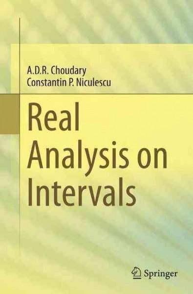 Real Analysis on Intervals | Products | Mathematics, New books, Pdf