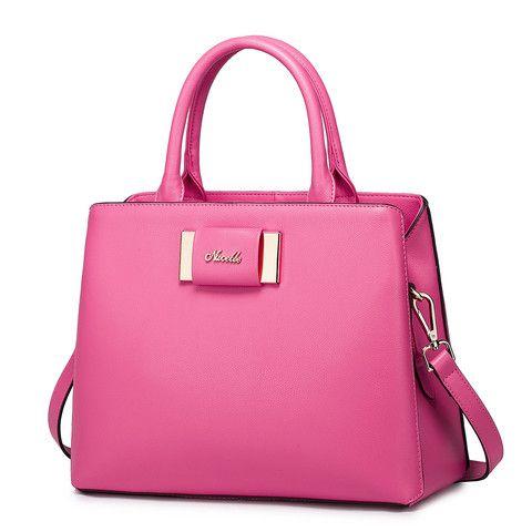 Bolsas de mano para dama. Piel. Colores: Negro. Rosa. Azul. Shopidonea. Importado.