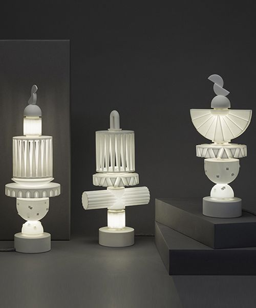 Ying Chang S Uniquely Shaped Lamp Series Stack Up Using Fitted Magnetic Connectors Digital Light Lamp Design