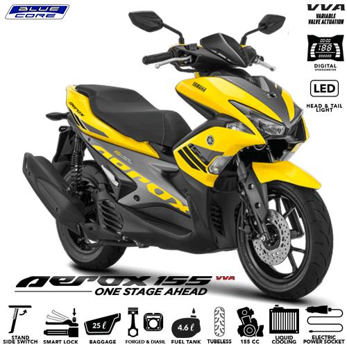 Harga Cash Dan Kredit Motor Yamaha Aerox 155 Vva Banyak Bonus 40