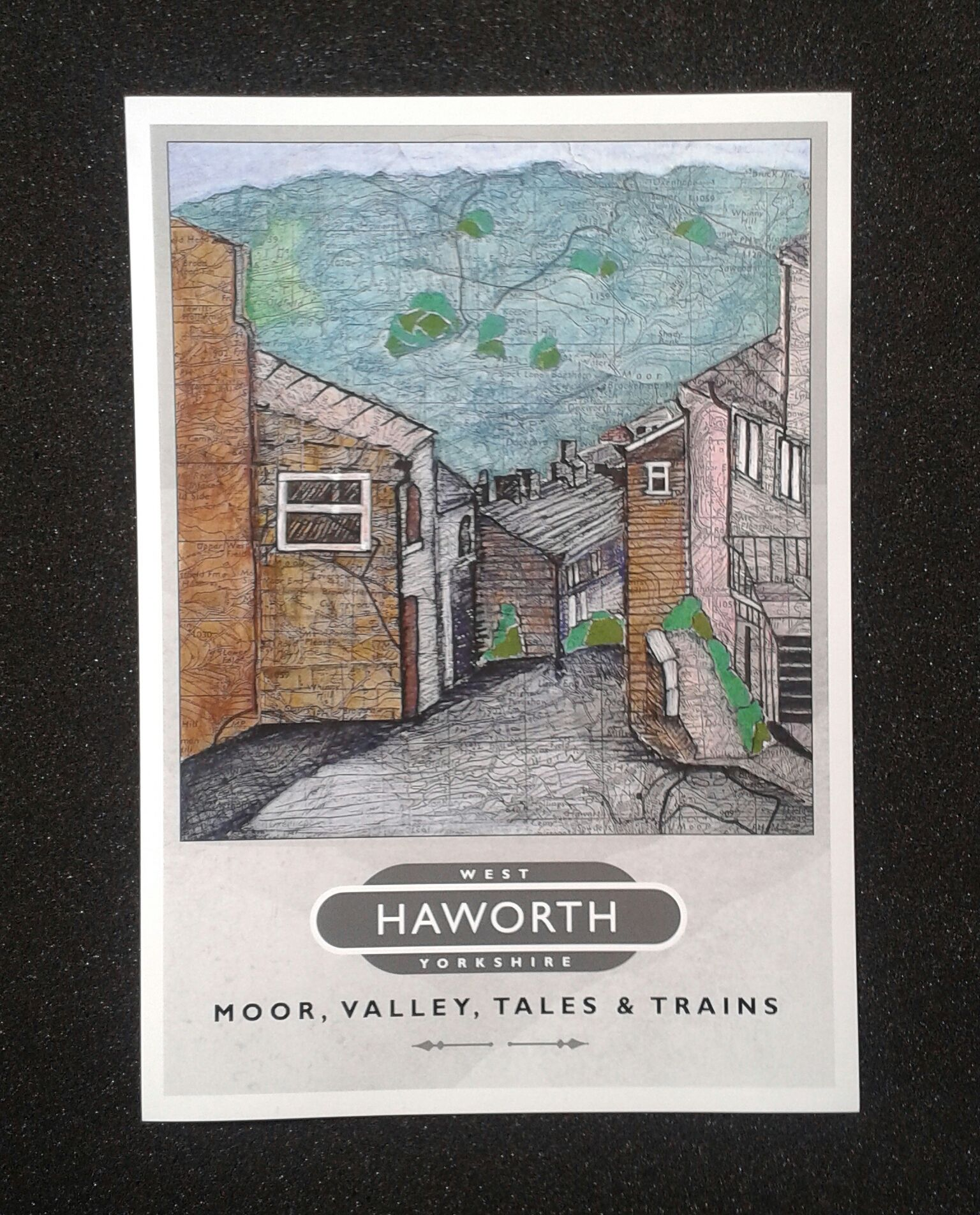 our new haworth travel poster features map art view of main st barely changed over the