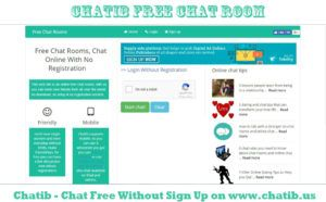 Chat rooms without sign ups