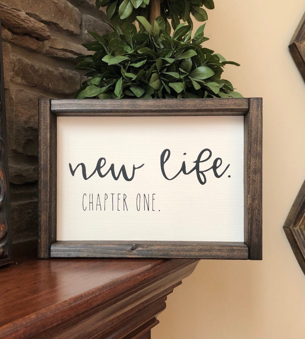 New Life Chapter One Sign Wedding Gift Widow Gift Etsy Divorce Gift Divorce Celebration Widow Gift