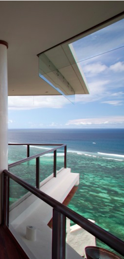 The master bedroom suite balcony, Bidadari Cliffside, Bali, Indonesia.