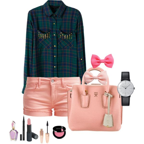 i can't say no by neverbewe on Polyvore featuring Le Temps Des Cerises, MCM, Klein & more, H&M and Forever 21