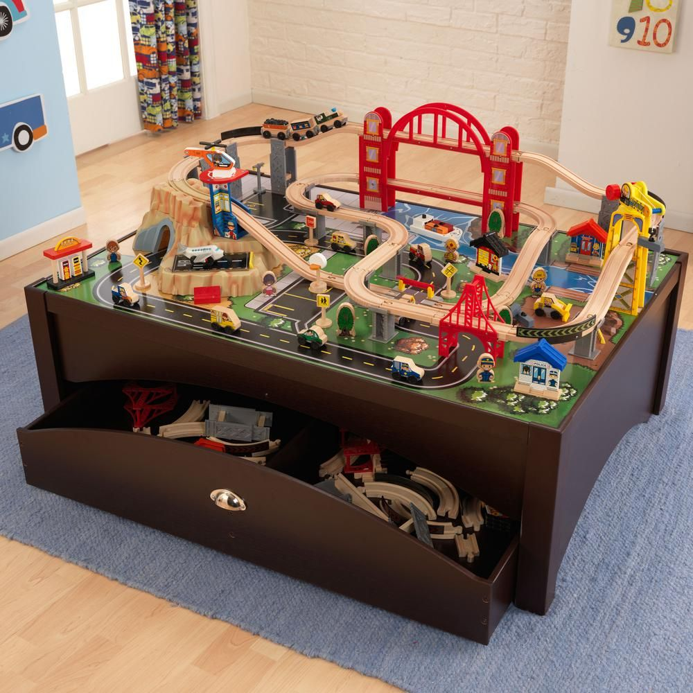 Kidkraft Metropolis Train Table And Playset Products