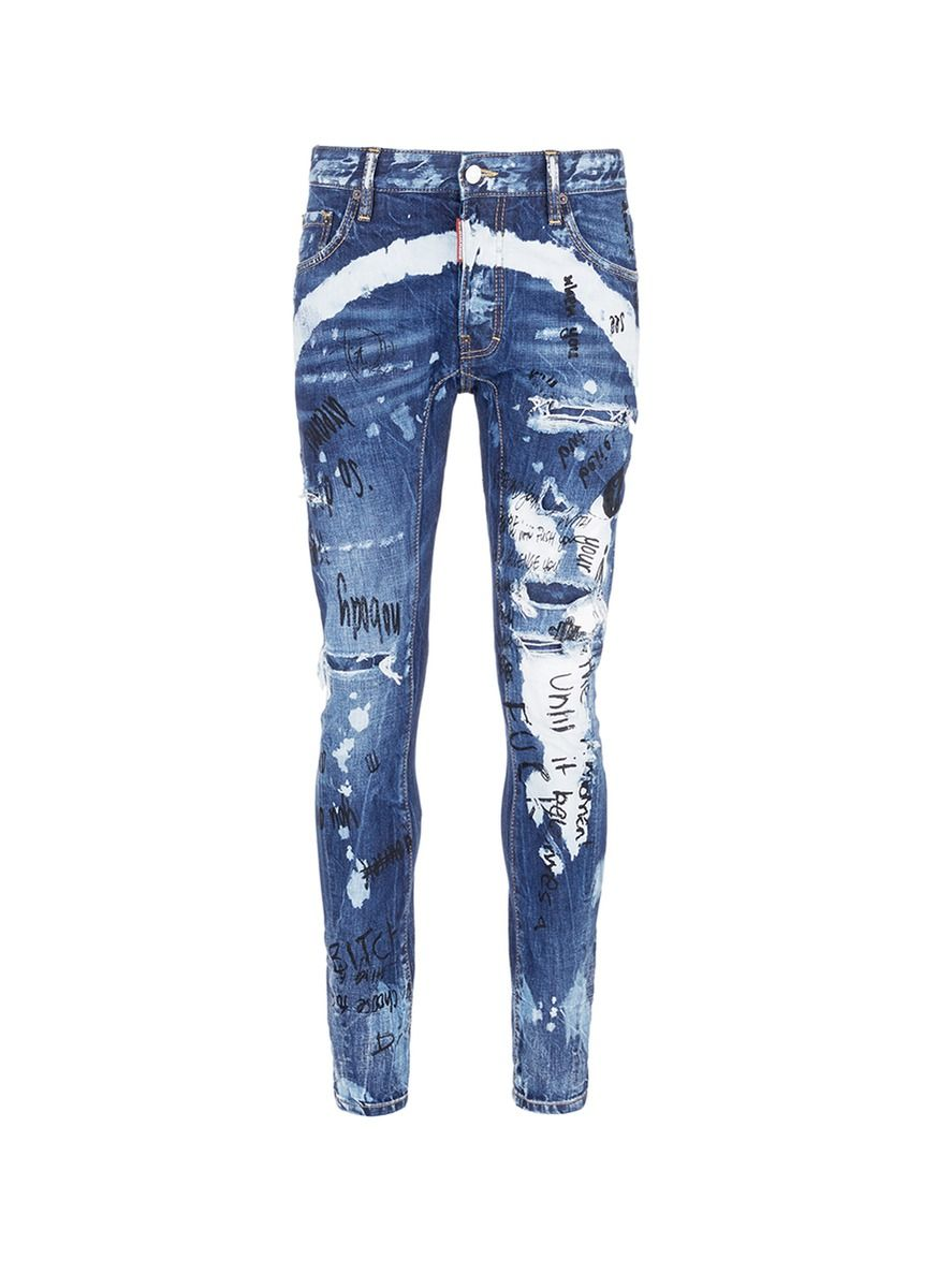 dsquared2  cloth  jeans Mens Distressed Skinny Jeans c57f669e9951