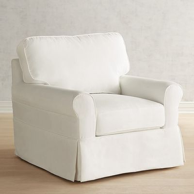 Lia Pierformance™ White Slipcovered Armchair in 2018 LIVING ROOM
