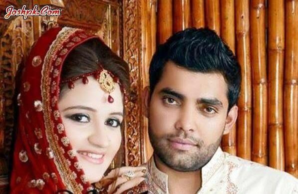 Pakistani Cricketer Umar Akmal And Noor Amna Wedding Pictures