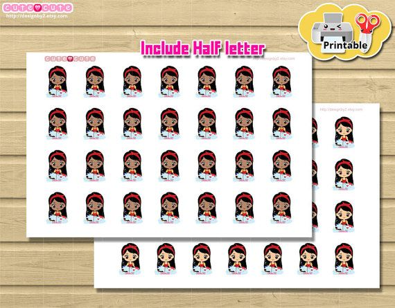 Chibi Clean Dishes Printable planner stickers Cute but Functional