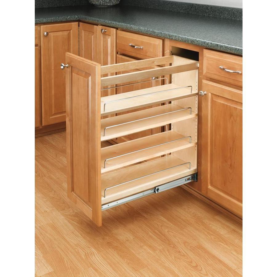 Rev A Shelf 8 In W X 25 48 In 1 Tier Pull Out Wood Cabinet