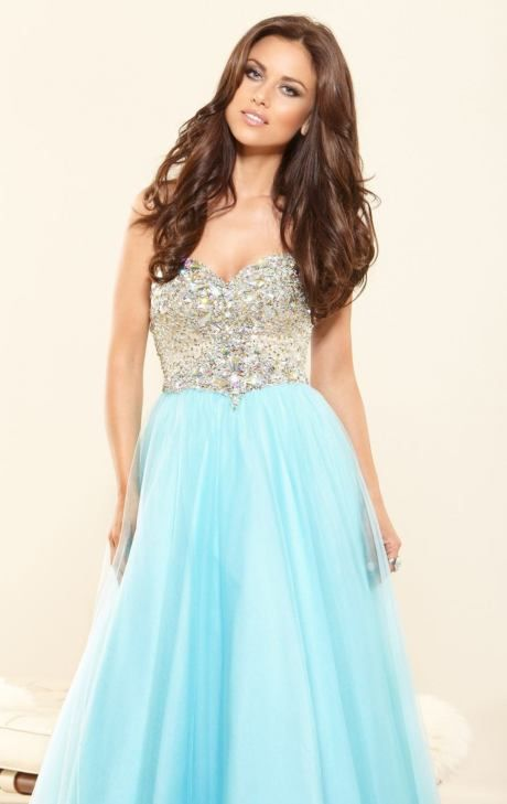 Terani Couture Ostentatious Beaded Sweetheart A-line Gown