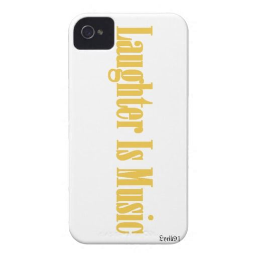 Laughter is  Music iPhone 4 Case