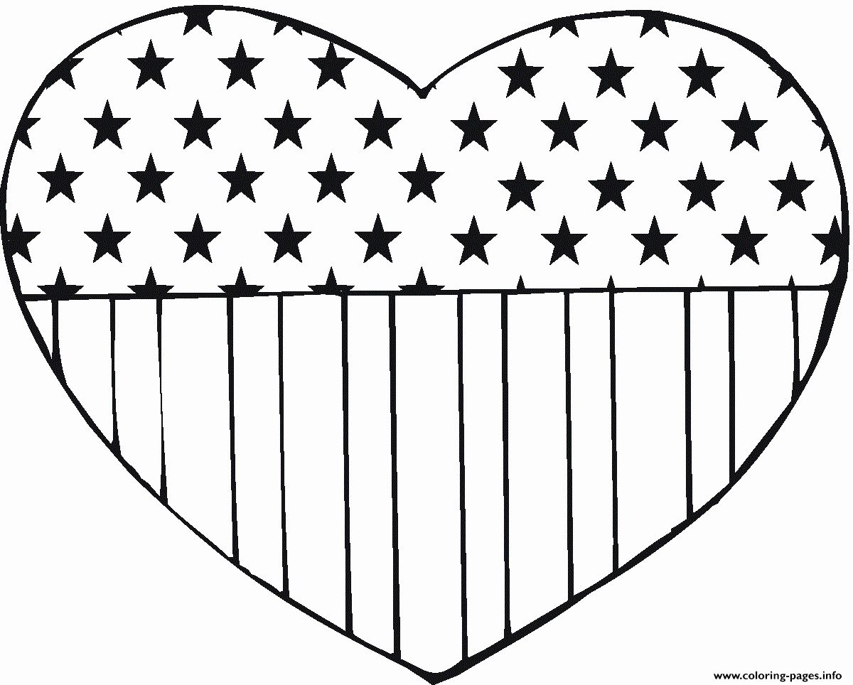 Printable American Flag Coloring Pages Unique Full Page American Flag Printable Pr In 2020 American Flag Coloring Page Memorial Day Coloring Pages Heart Coloring Pages