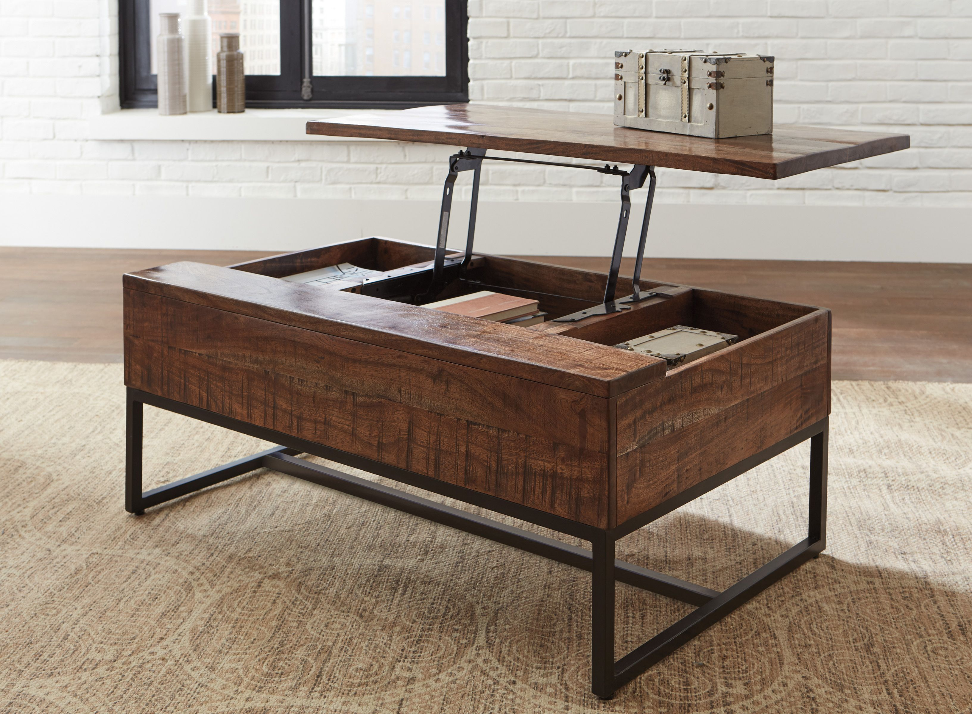 Hirvanton Cocktail Table Wlift Top Coffee Table Coffee Table