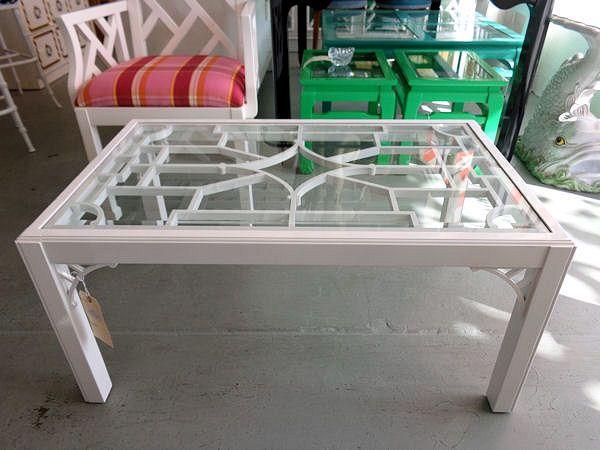 Fretwork Coffee Table.White Fretwork Coffee Table Florida Beach House Table Coffee Decor