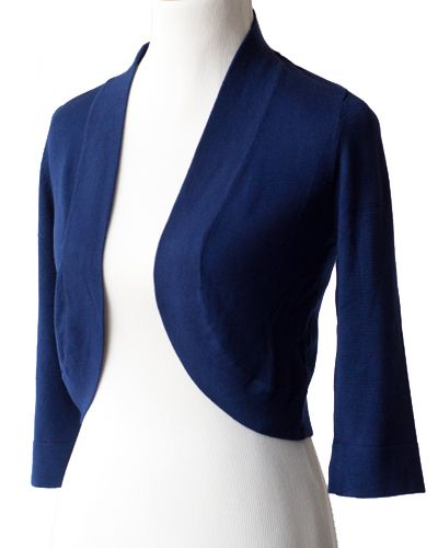 Blue Shrugs and Boleros | Jessica Howard Bolero Sweaters | bolero ...