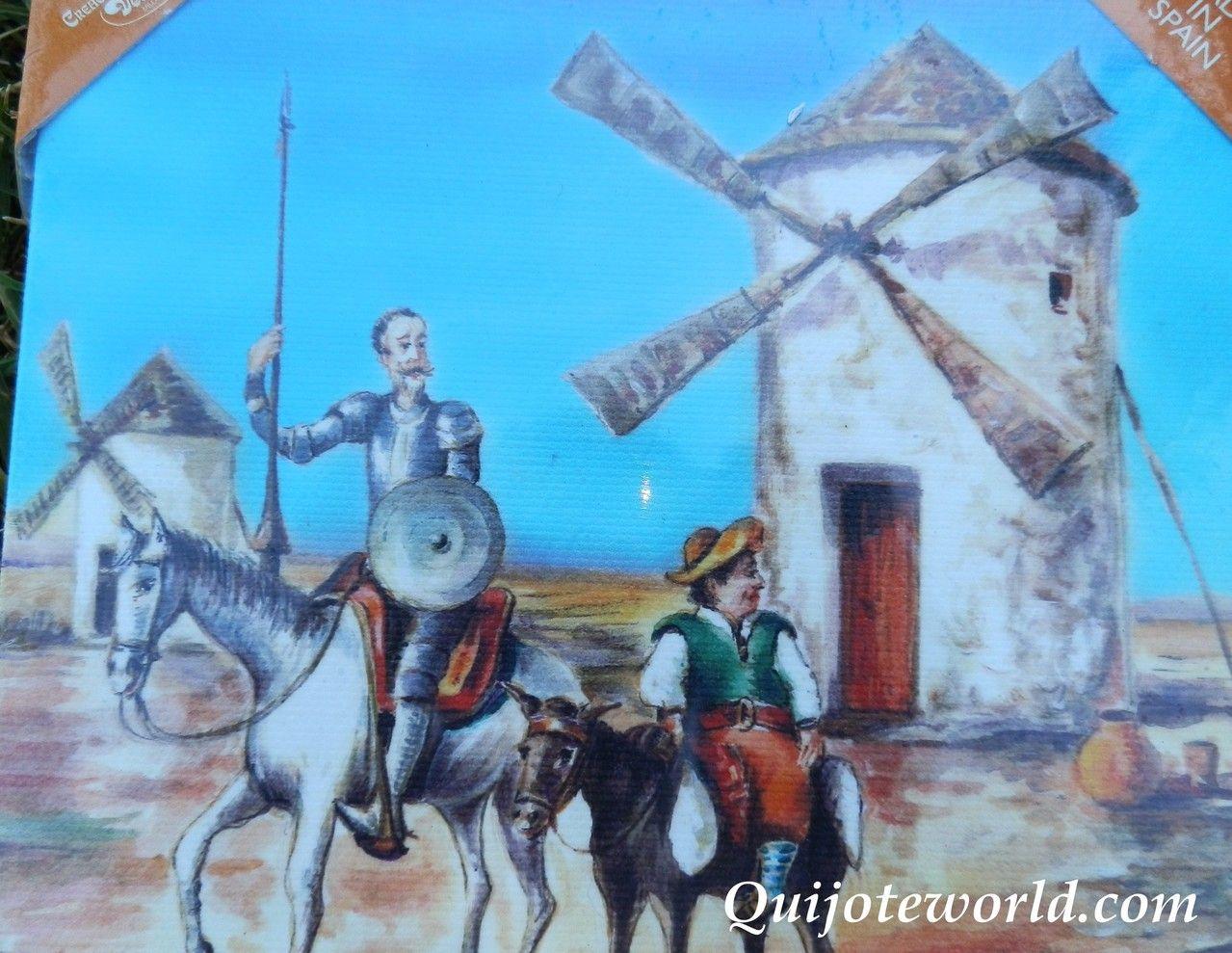 Cuadros artesanales decoraci n paredes don quijote de la - Cuadros para pared ...