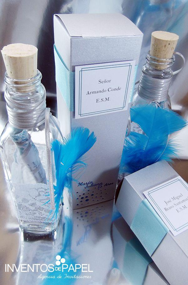 Invitación 15 Años Creativa De Invierno En Botella