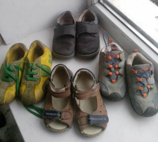 Продам кожаную обувь на мальчика 22-23 размера