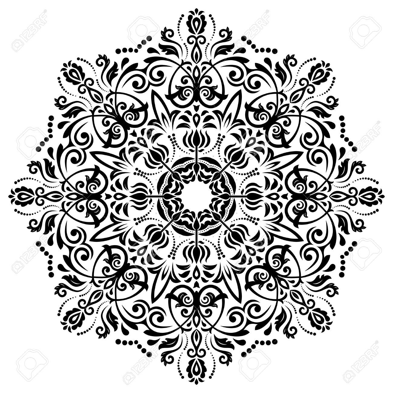 Tattoos arabesque tattoos arabeske tattoos arabesk tattoos - Damask Vekt R Arabesk Ve Oryantal Unsurlar Ile I Ek Deseni Zet Geleneksel
