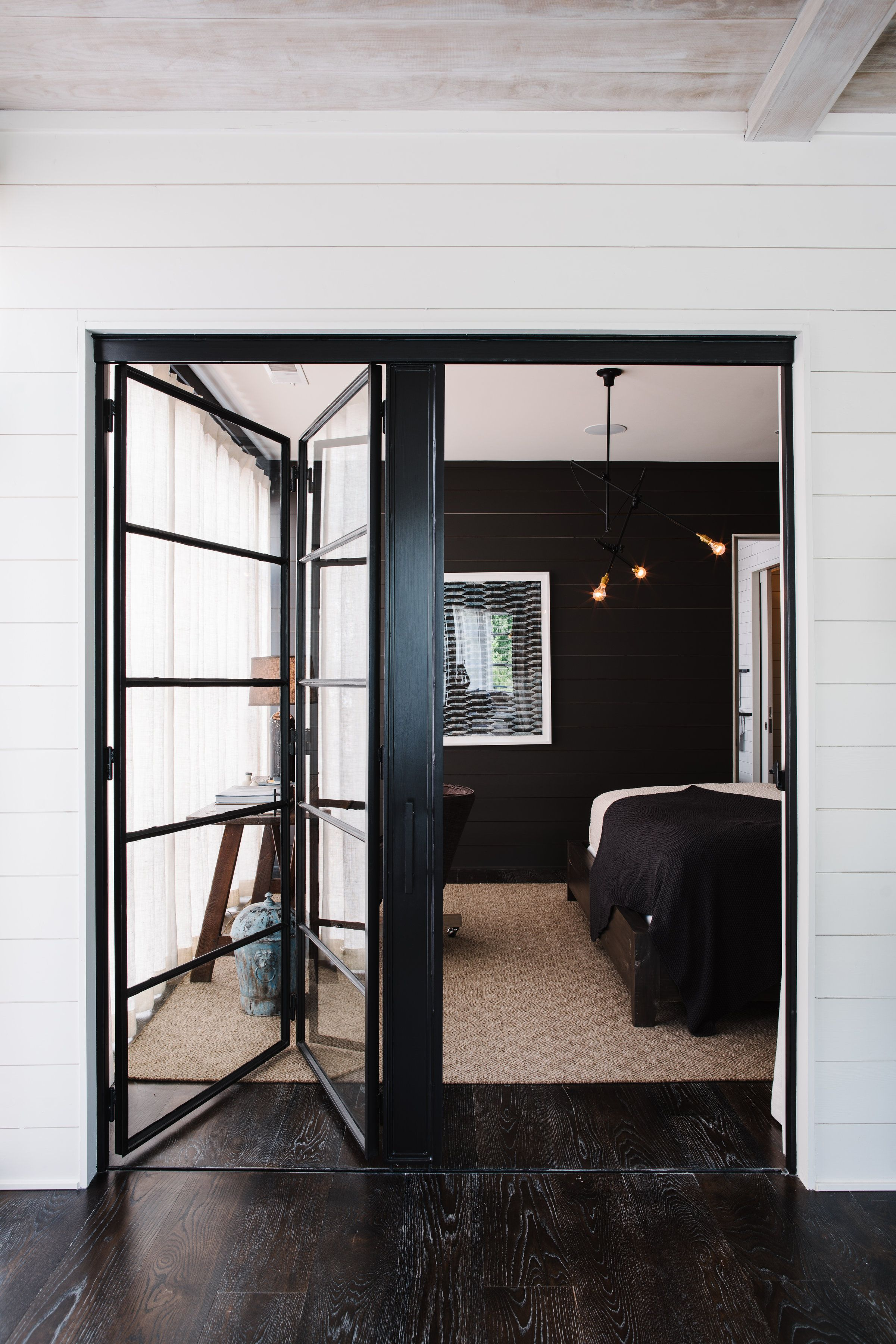 House design with sliding window  stunning door leading to bedroom  smith hanes studio  humble abode