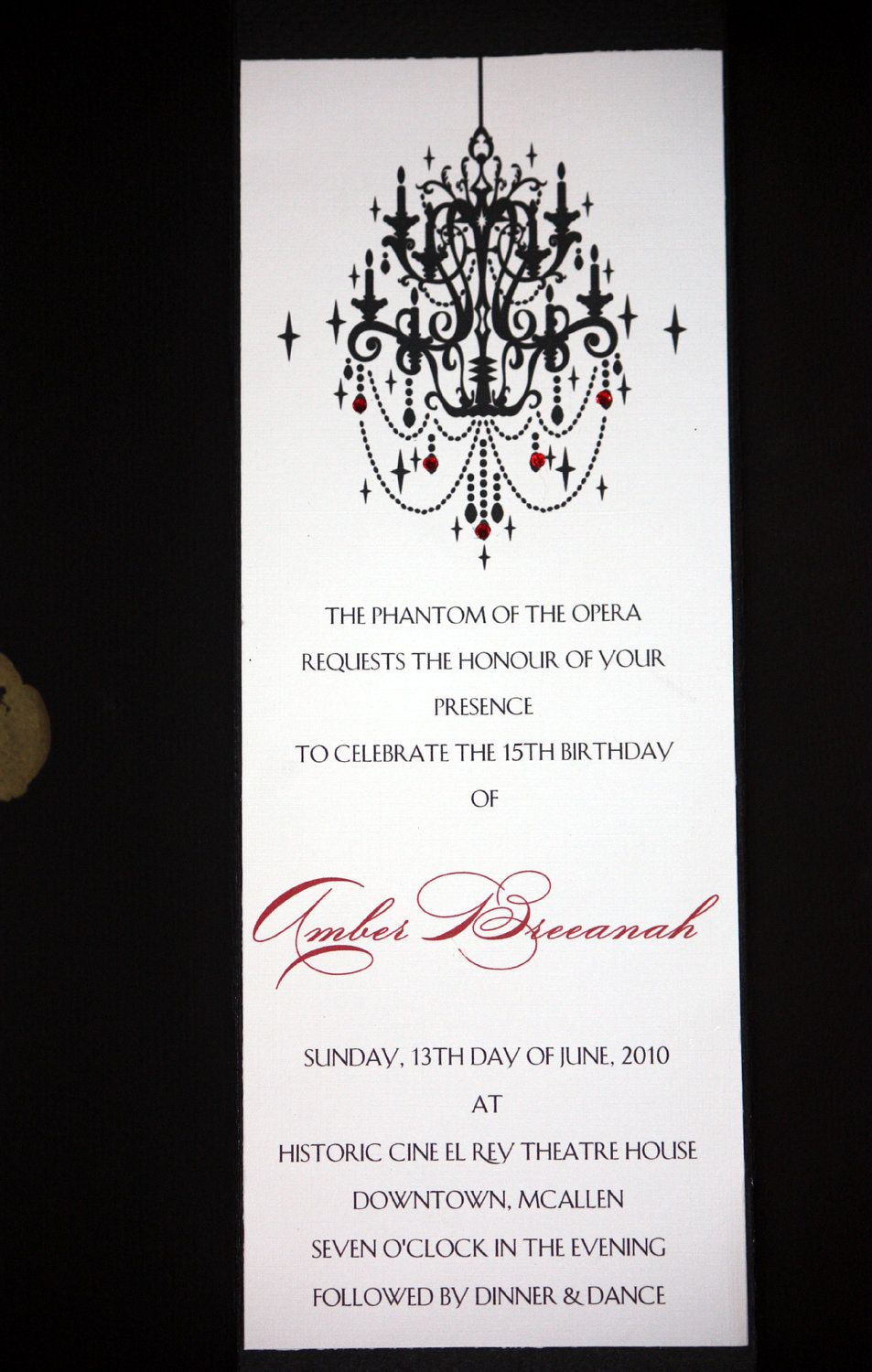 Phantom Of The Opera Invitations By Lilsocialbutterflies On Etsy