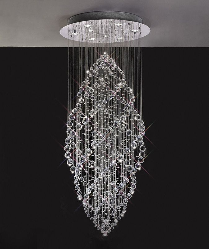 brilliant crystal modern light stair lights chandelier hanging luxury pendant