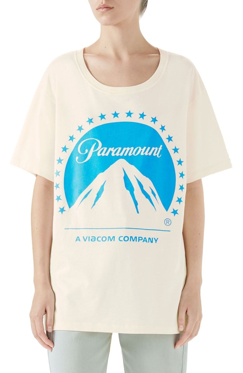 e266c56358c Free shipping and returns on Gucci Paramount Print Tee at Nordstrom.com.  Pre-order this style from the Fall 2018 collection! Limited quantities.