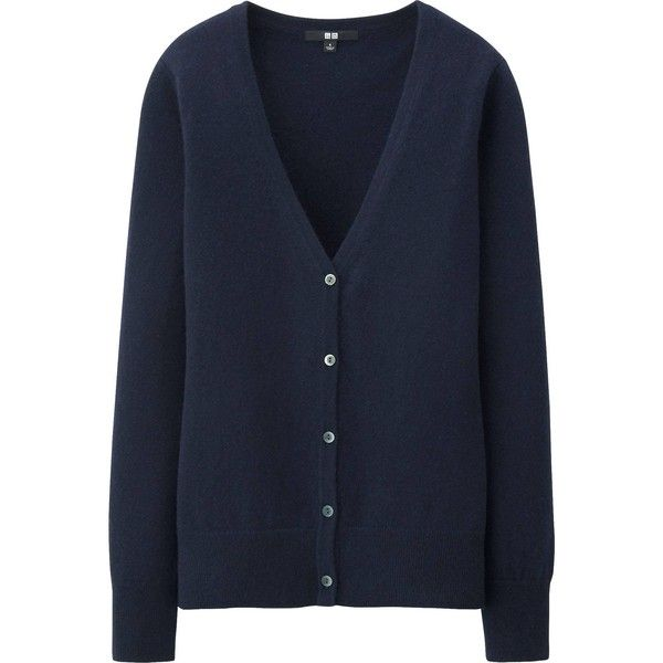 UNIQLO Women Cashmere V Neck Cardigan ($100) ❤ liked on Polyvore ...