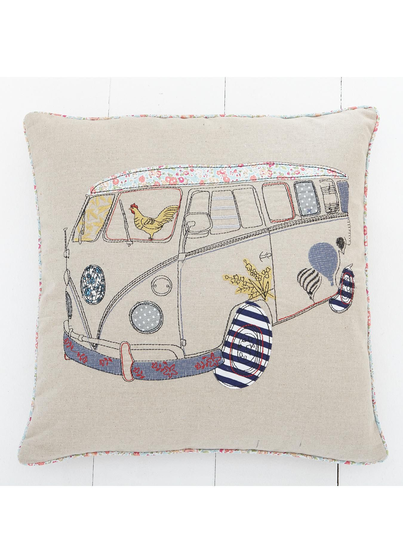 Camper Van Embroidered Cushion | very.co.uk