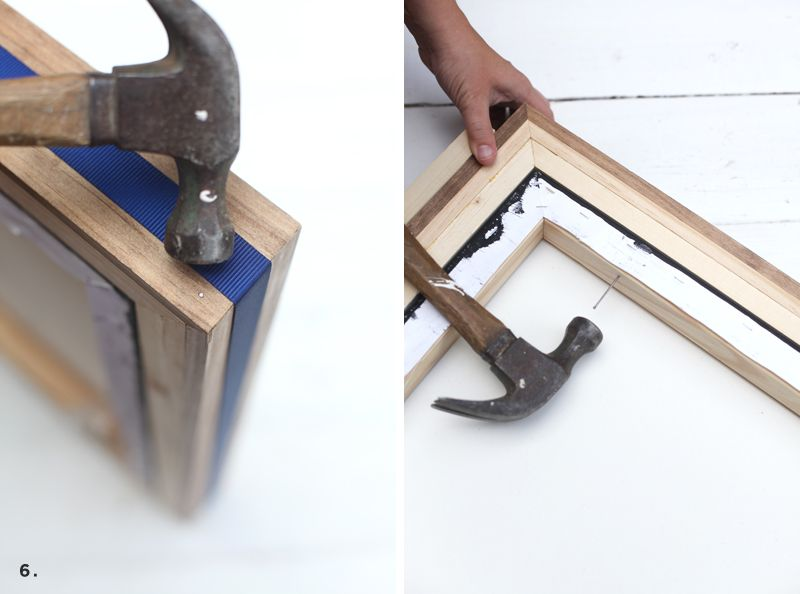 3 Custom-built frames you can make without any power tools!   Wood ...