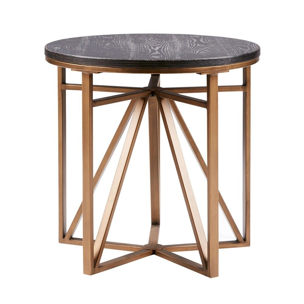 Mankato end table bronze end tables contemporary end