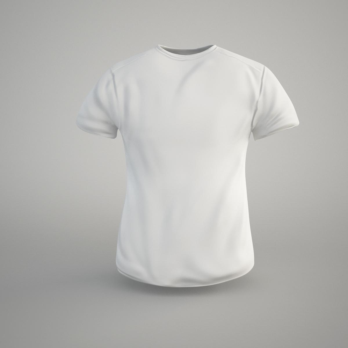 T-shirt 3D Model Game ready .obj .fbx