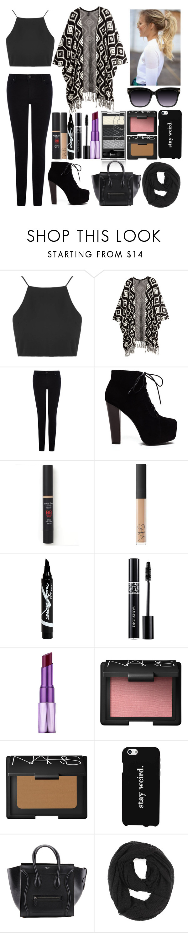 """""""Untitled #76"""" by directioner1608 ❤ liked on Polyvore featuring Topshop, H&M, Warehouse, Smashbox, Maybelline, Urban Decay, NARS Cosmetics, LG, Paula Bianco and morelikesjul"""
