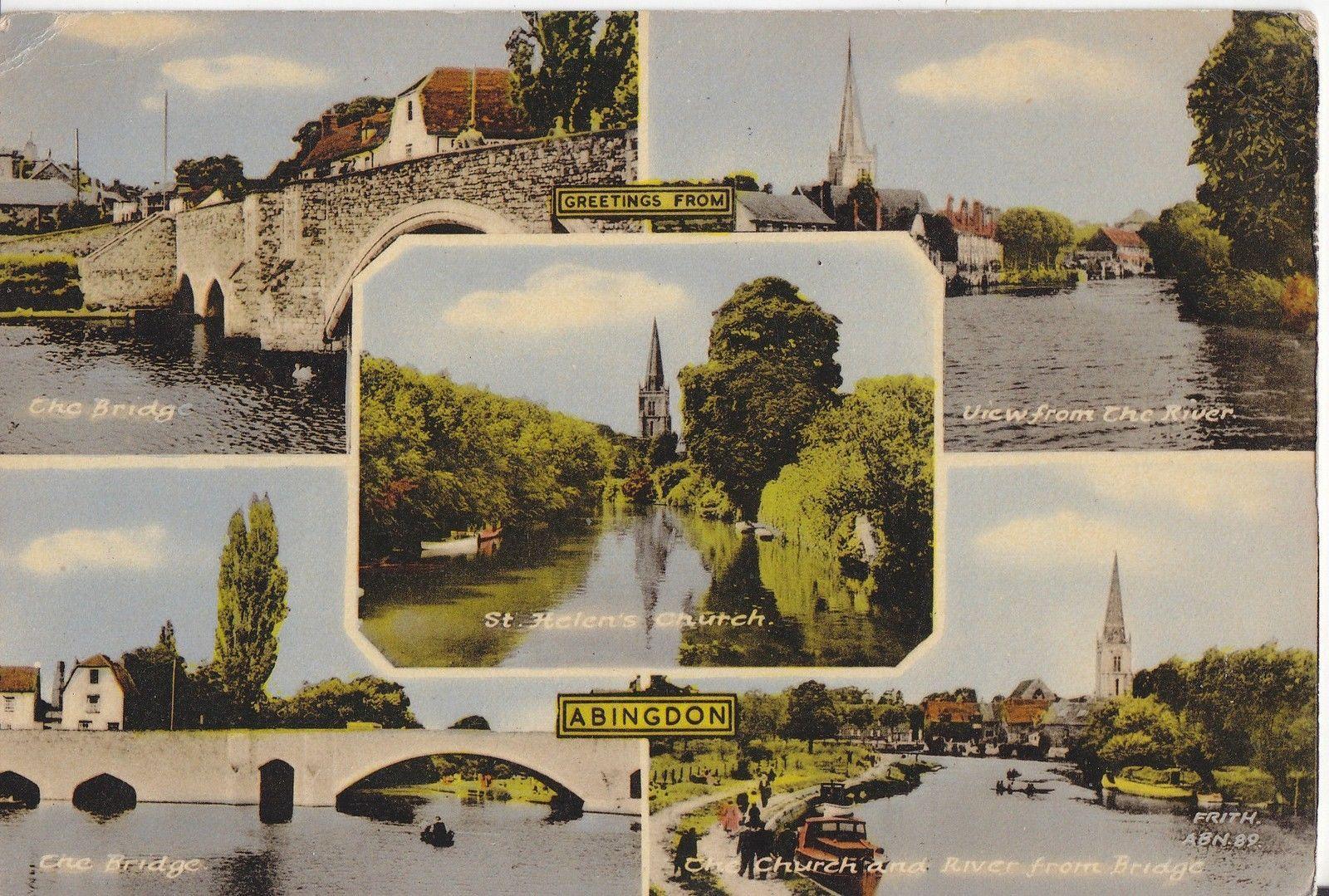 ABINGDON NICE OLD 5 VIEW COLOUR POSTCARD FRITHS NO ABN 89. | eBay