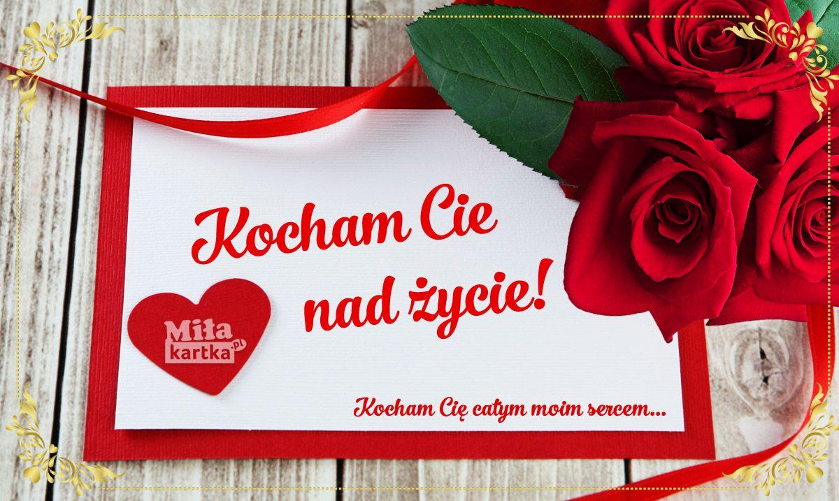 Kocham Cie Nad Zycie Milosc Walentynki Kartka Kocham Kochanie Milosc Happyvalentinesday Valentines Kwiaty Polska Poland Serce Love Tableware