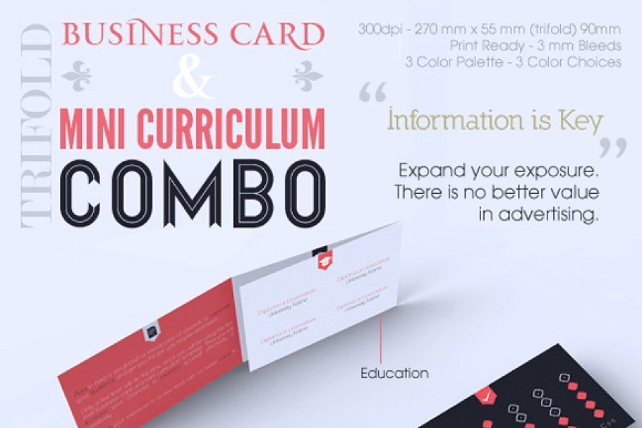 Trifold Business Card Cv Combo In 2020 Business Cards Creative Templates Business Card Template Design Foldable Business Cards