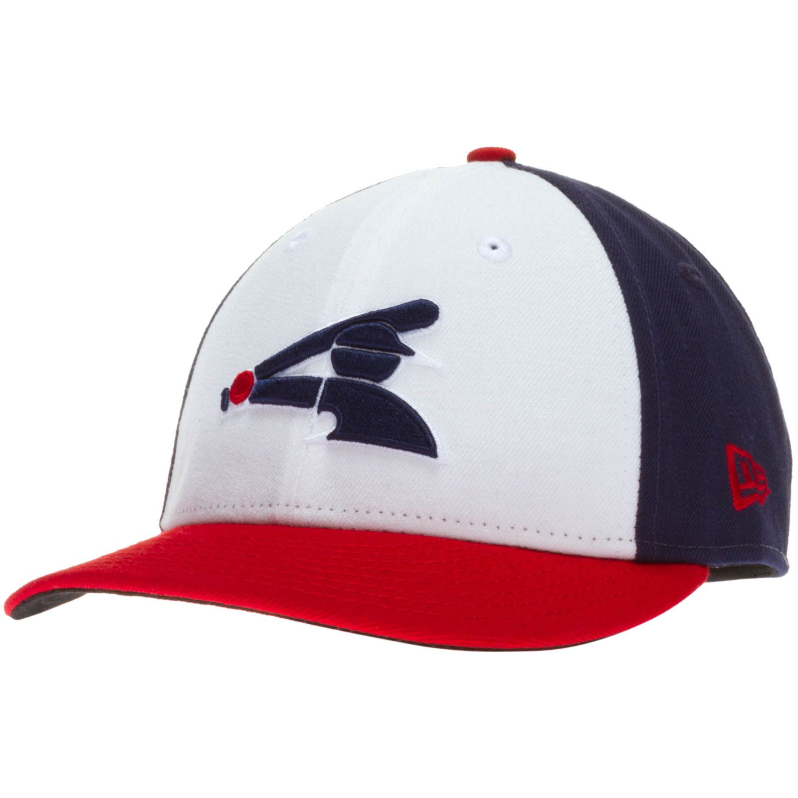 7ce39eebf7d5a Chicago White Sox Tri-Color Half Batterman Flat Bill Fitted Hat by New Era   Chicago  ChicagoWhiteSox  WhiteSox