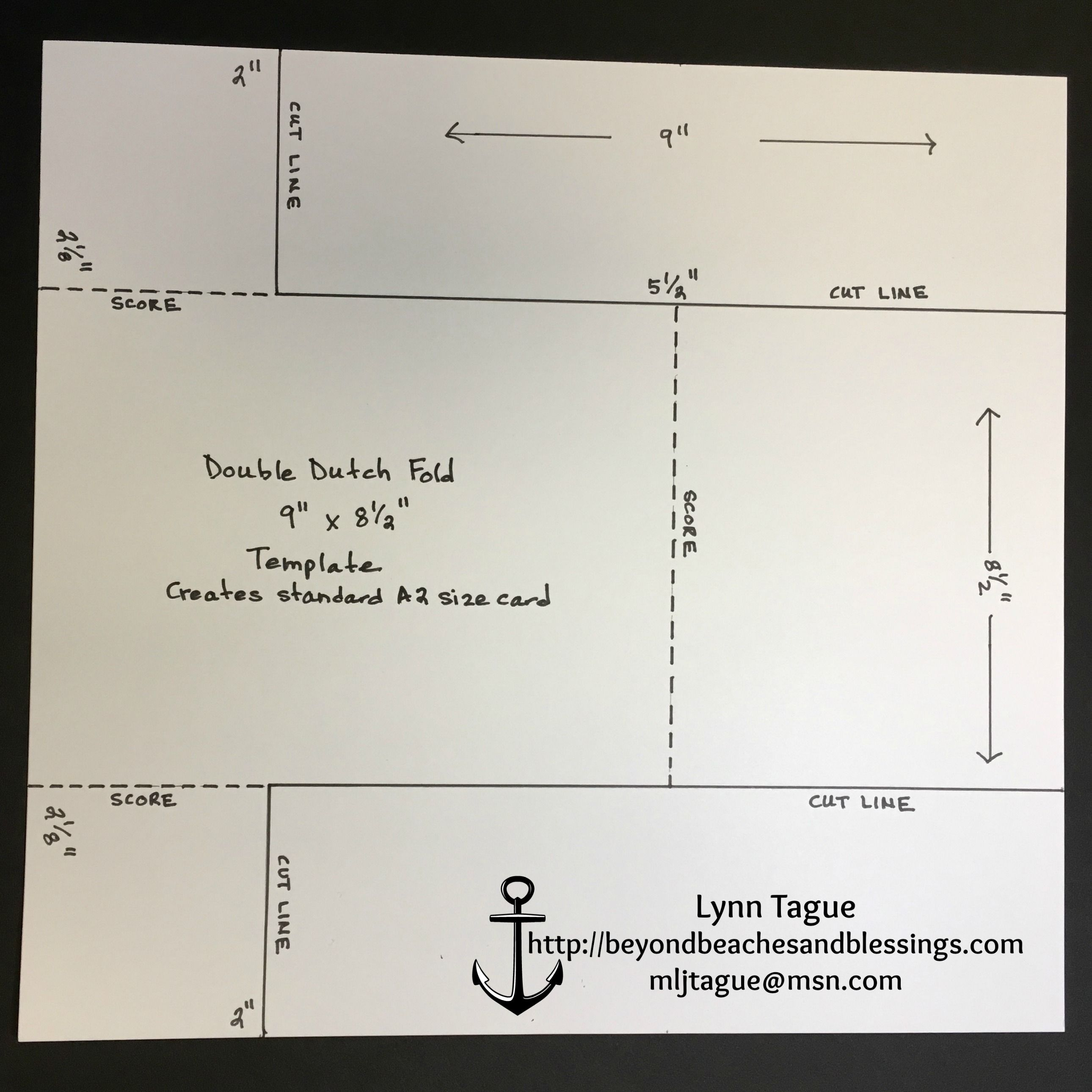 Stampinup Double Dutch Fold Card Template Designed By Demo Lynn Tague See More Cards And Gift Ideas At Beyondbeachesandblessings