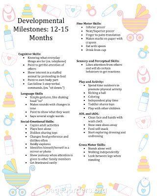 Free developmental milestone chart to months also all things rh pinterest