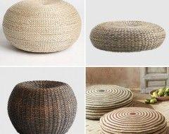 Superior Seagrass Floor Pillows