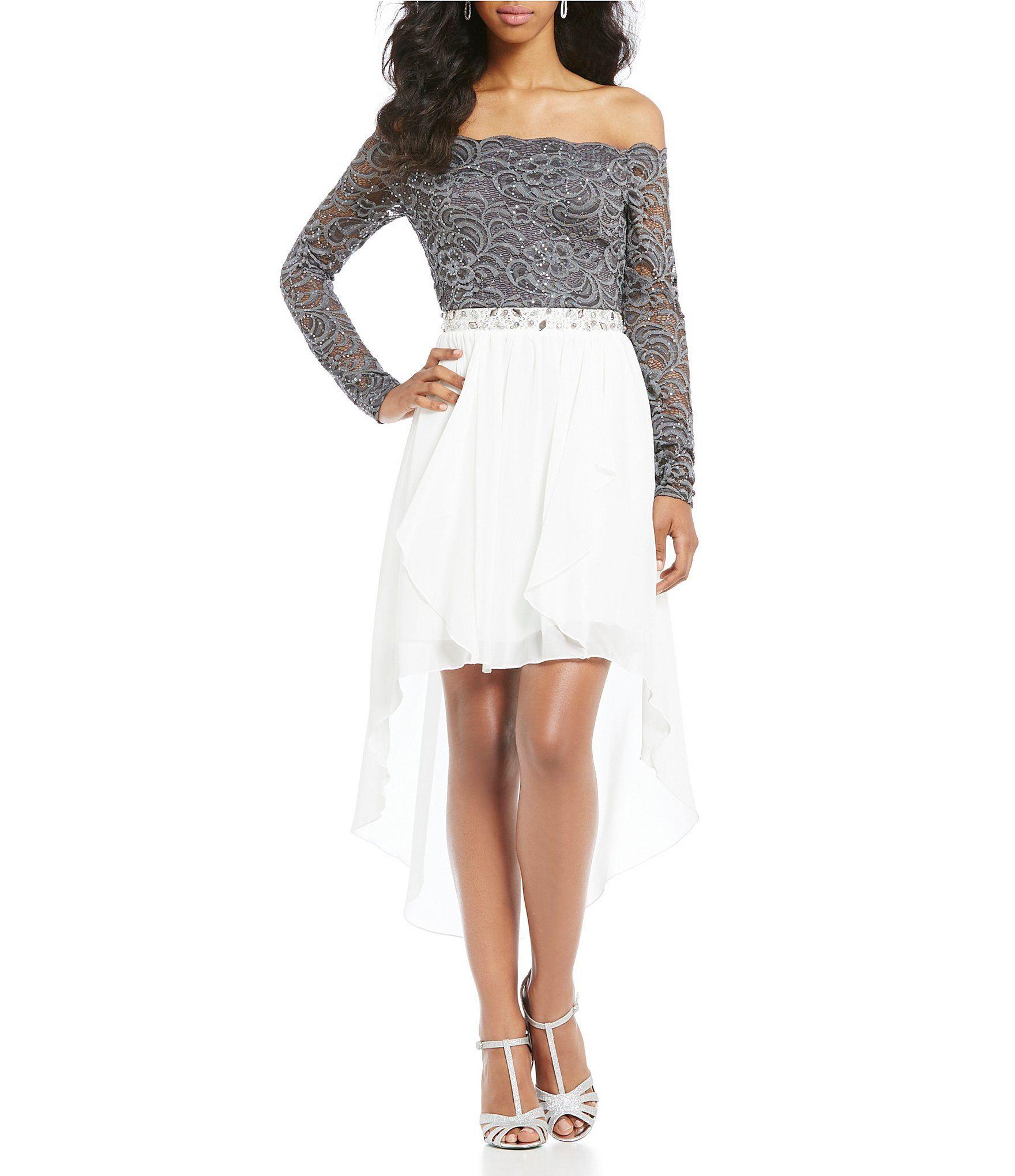 7684286c433 Shop for Jodi Kristopher Off the Shoulder High-Low Dress at Dillards.com.  Visit Dillards.com to find clothing
