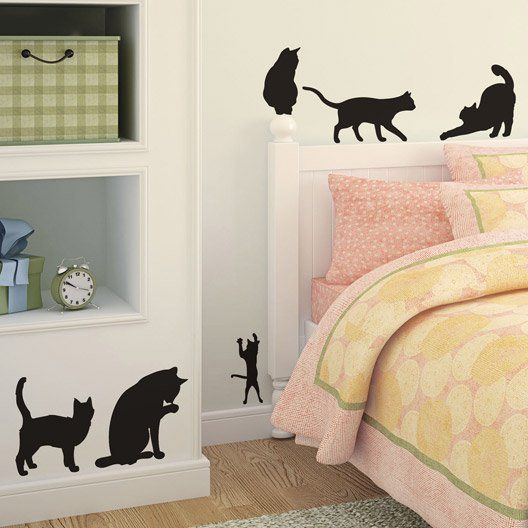 Sticker Les Chats 50 X 70 Cm Deco Stickers Idee Deco Deco